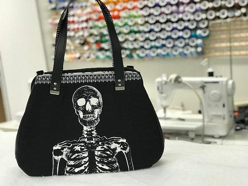Glow in the Dark Skeleton Carpet Bag