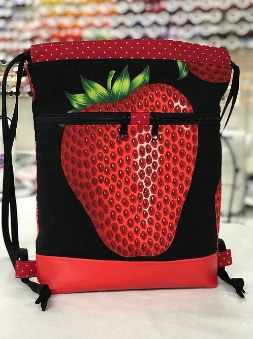 Very Strawberry Drawstring Backpack