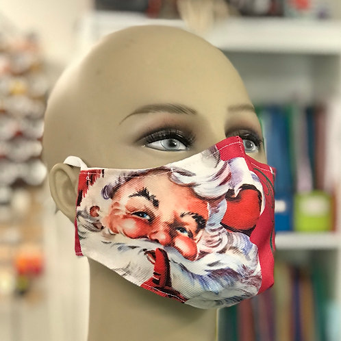 Merry Christmas Santa holiday face mask