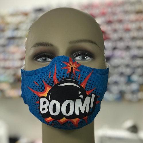 Boom Face Mask Blue