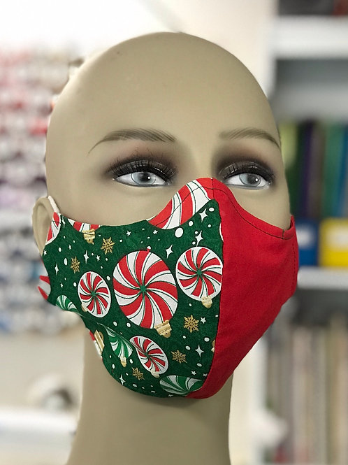 Peppermint Candy Holiday Face Mask 1