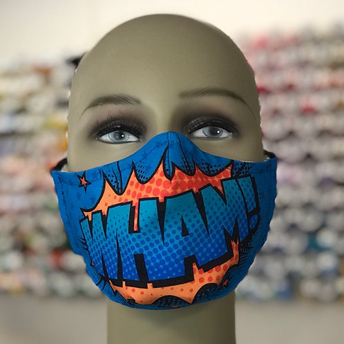 WHAM Comic Style Graphic Face Mask