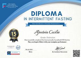 Intermittent fasting diploma Apostoiu Ce