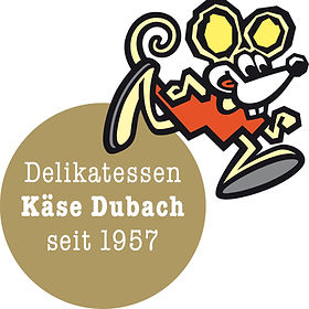 Das typische Fimenlogo, die Käse Dubach Maus
