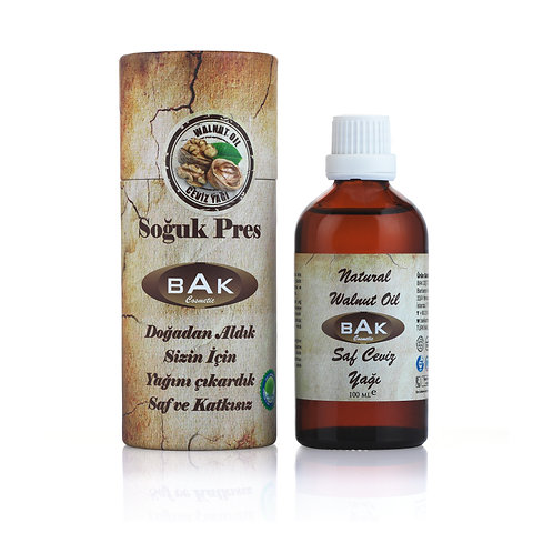 BAK NATUREL WALNUT OIL SAF CEVİZ YAĞI 100ML