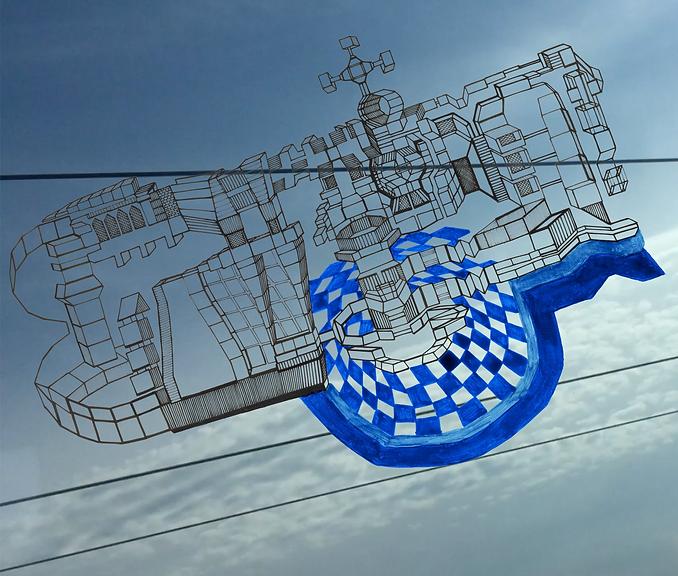 Blue Flying machine.heic