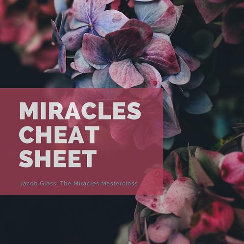 Miracles Cheat Sheet: Miracles Masterclass