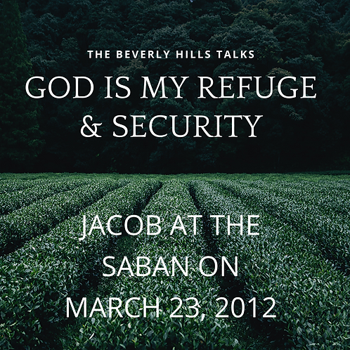 God is My Refuge and Security