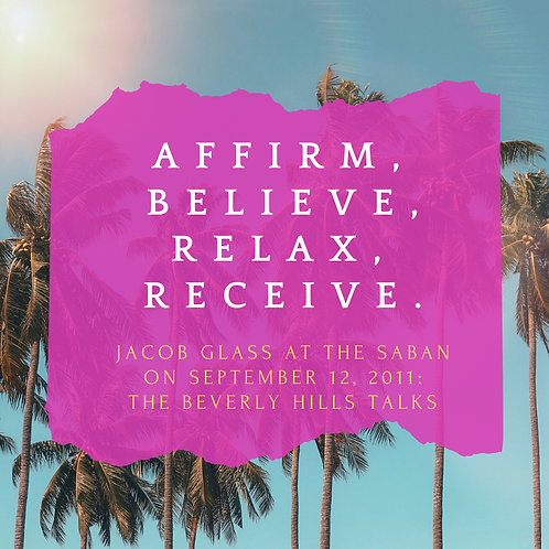 """Affirm, Believe, Relax, Receive"" mp3"
