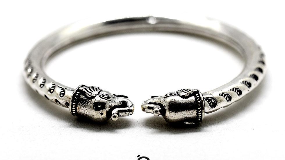 Royal Gajanan Antique Silver Kada