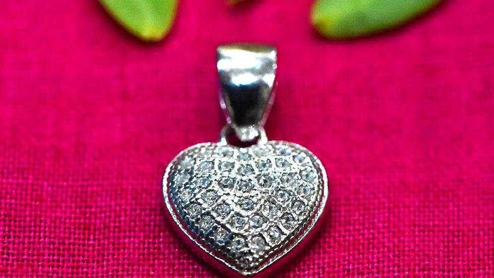Pure Heart love Pendant 925 Sterling Silver Pendant