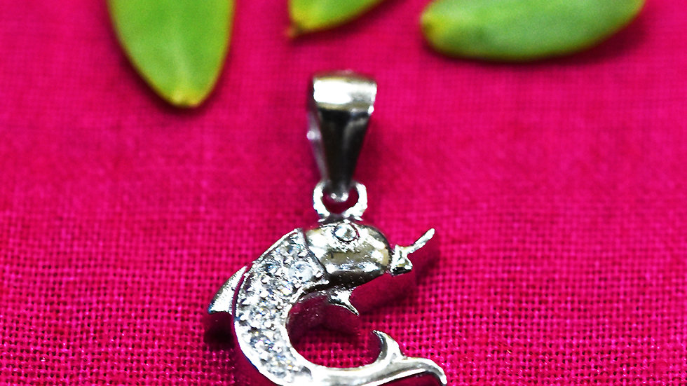 Lucky Dolphin Charm 925 Sterling Silver Pendant
