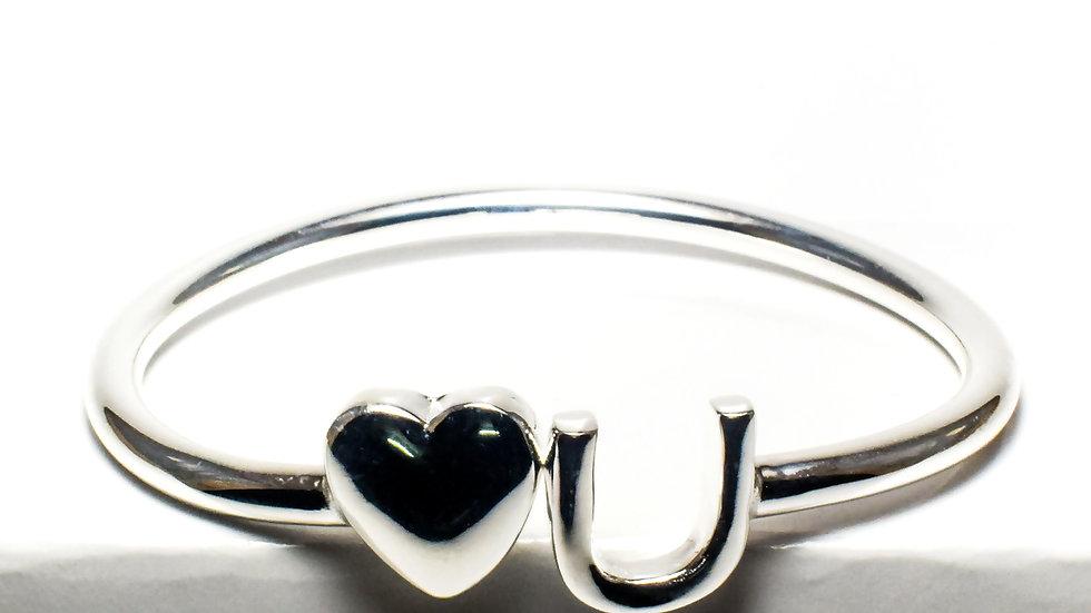 Heart Design Women's Silver Cuff Bracelet (Kada)