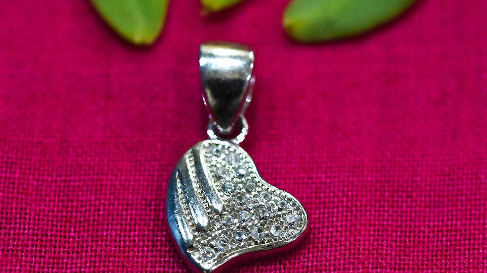 Cute Heart love Pendant 925 Sterling Silver Pendant