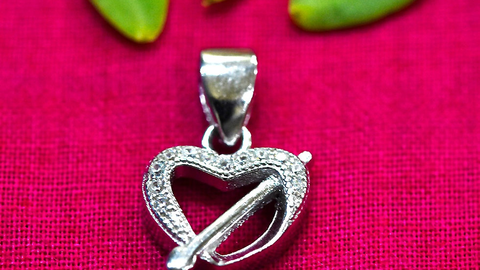 Heart and Arrow love Pendant 925 Sterling Silver Pendant