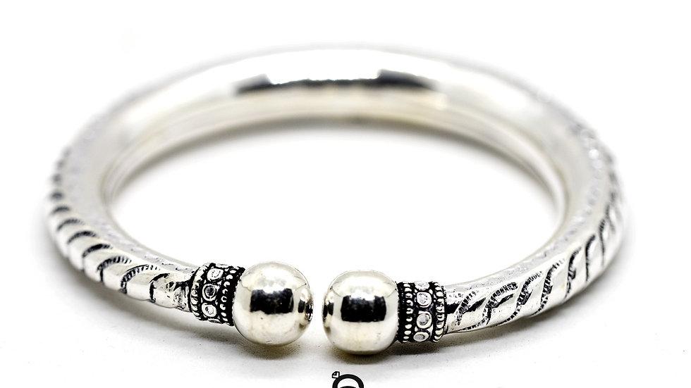Bahubali Antique Silver Kada