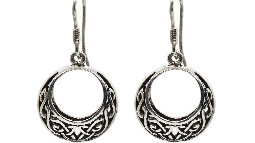 925 Sterling Silver Oxidised Filigree Ethnic Bali Earrings