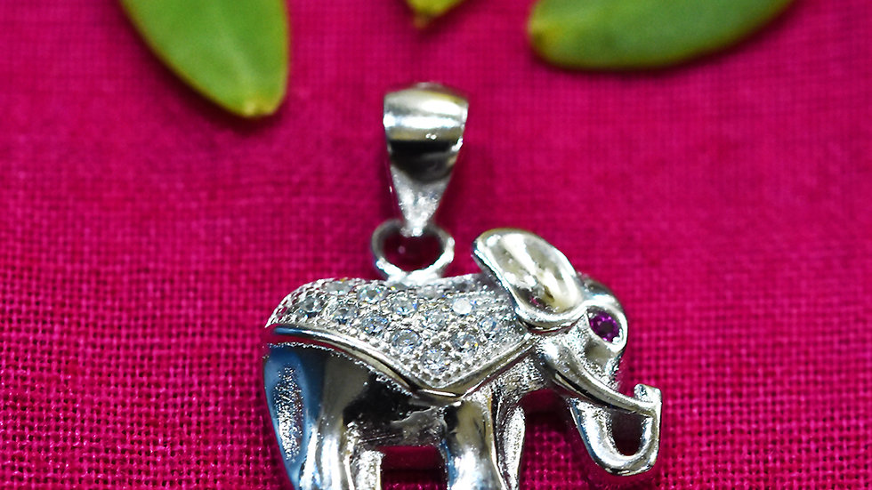 Lucky Elephant Charm 925 Sterling Silver Pendant