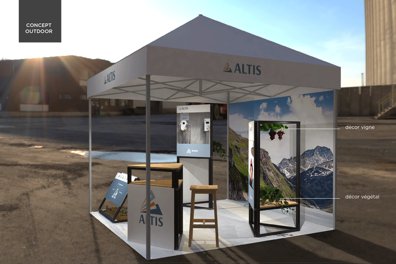 Stand exposition multi-fonction suisse romande