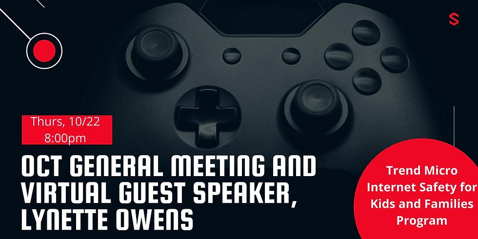 October General Meeting and Virtual Guest Speaker