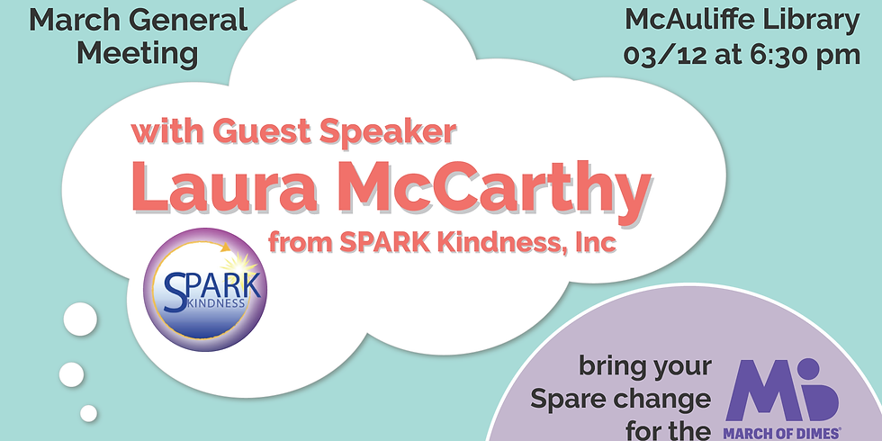 March Meeting - Guest Speaker & Spare Change Drive