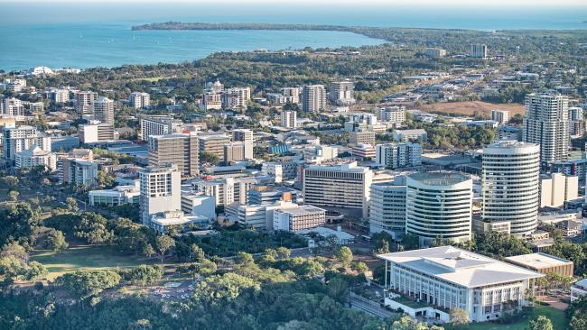 Aerial image of Darwin CBD in daytime