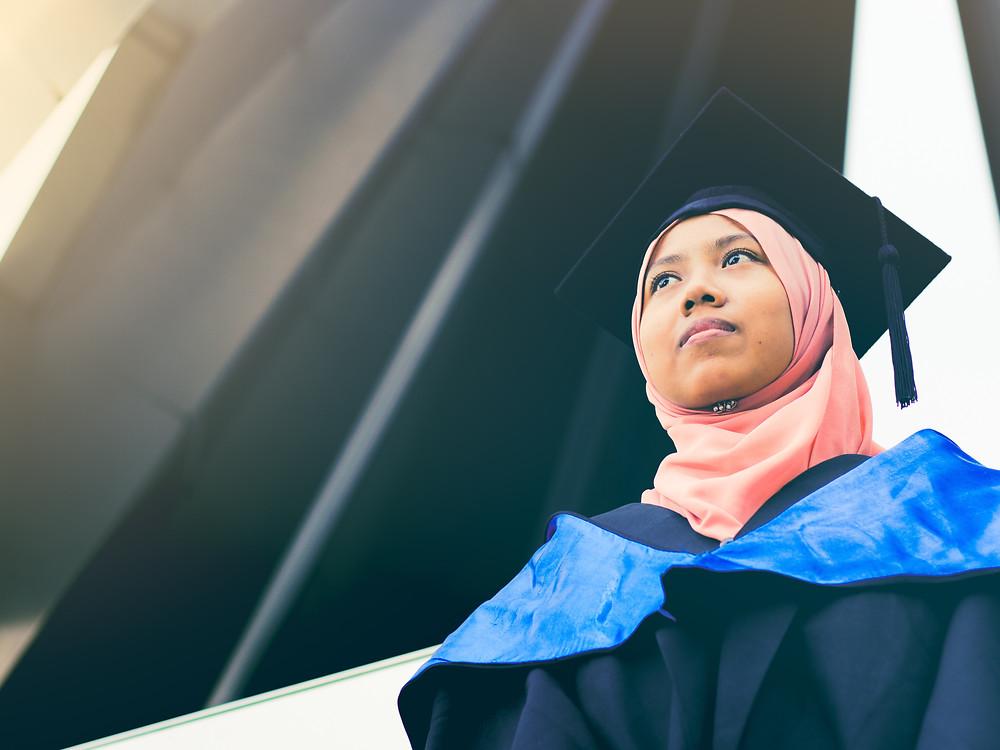 International student in Australia in graduation ceremony