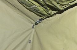 Hooks in tent