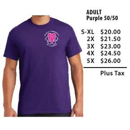 Adult Purple 50/50 blend