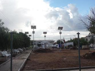 Lamparas Solares en Parques