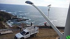 Lamparas y Luminarias Solares para alumbrado público, canchas deportivas y parques