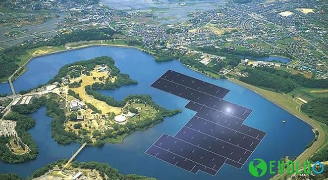 Prototipo planta solar en en la reserva de la presa Yamakura