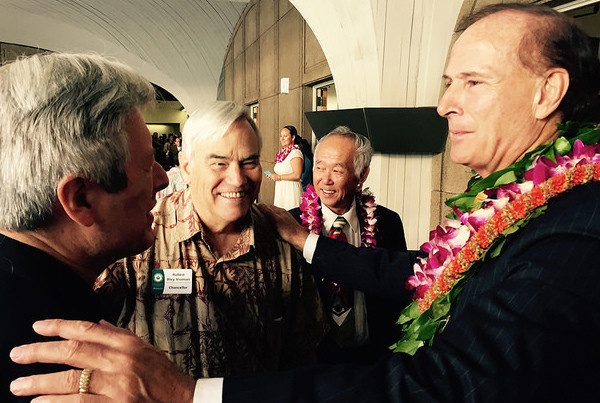 Rep. Ward Greets UH Manoa Deans On Opening Day