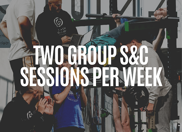 2x Sessions Per Week |  Small Group Strength & Conditioning Session