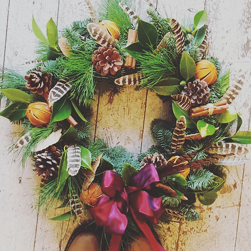 Christmas Wreath Workshop   Saturday 12th December 2-4pm 30 North St 2 SPACES