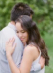 Pretty girl giving a hug to her boyfriend