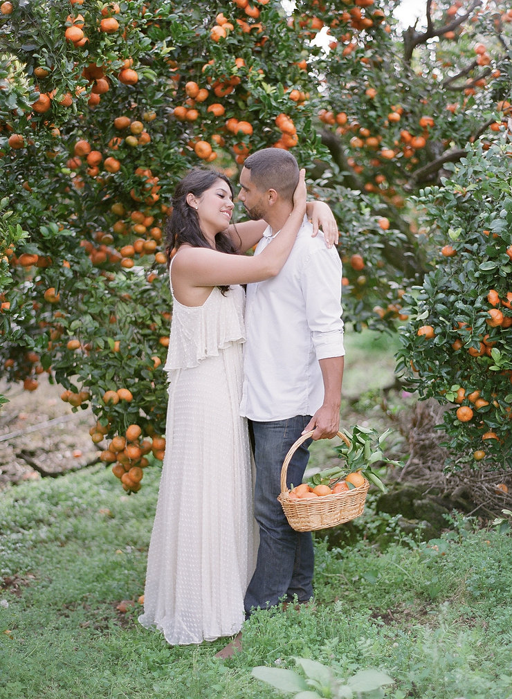 Bride & Groom to be in Citrus Fruits