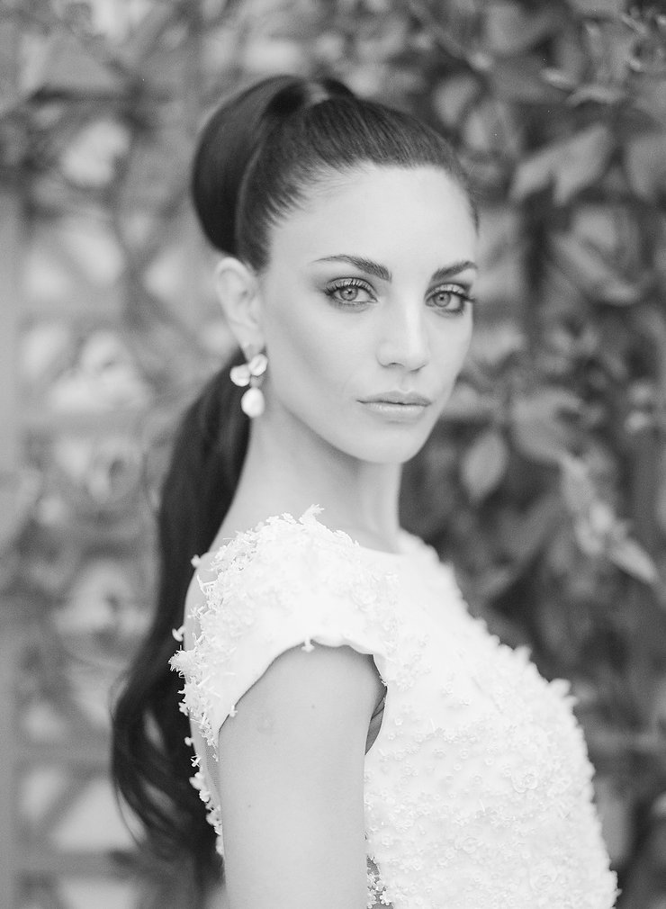 Black & White Bride's Portrait