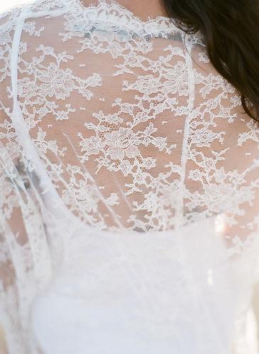 Detail of a lacy kimono's back