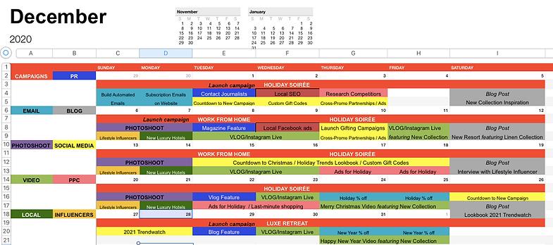 marketing calendar mj agra