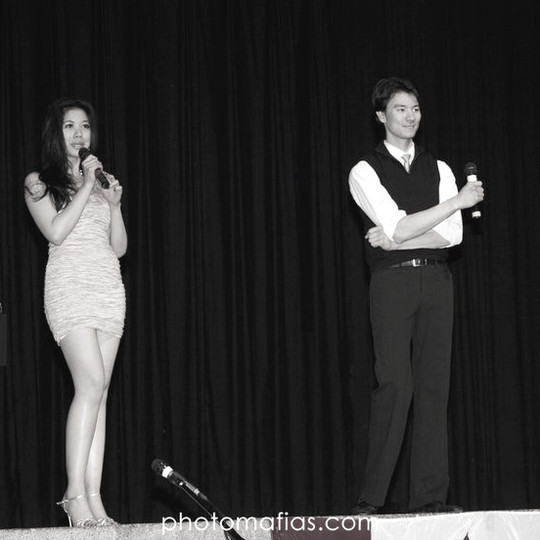 Co-Emceeing a Beauty Pageant in Canada