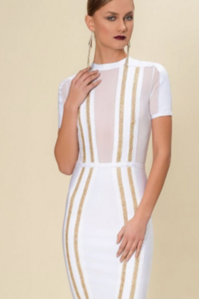White Gold Chain Dress
