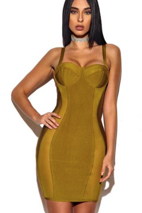 VIP Sheer Panels Bandage Dress (Miss Circle)