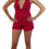 Thumbnail: Strutting on Peachtree Netted Romper (Pink&Red)