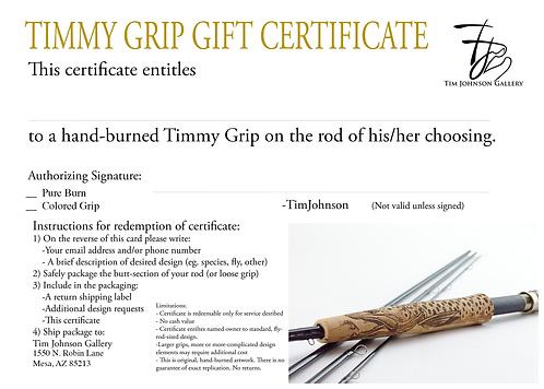 Timmy Grip Certificate