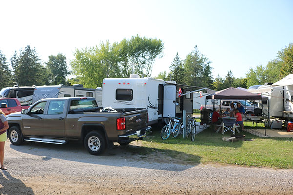 Site 203 with trailer