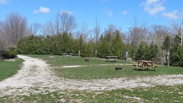 Transient sites at pond