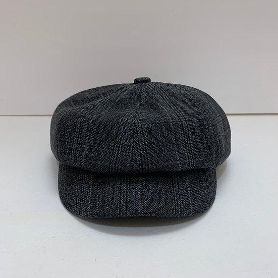 Grey Stripe Beret