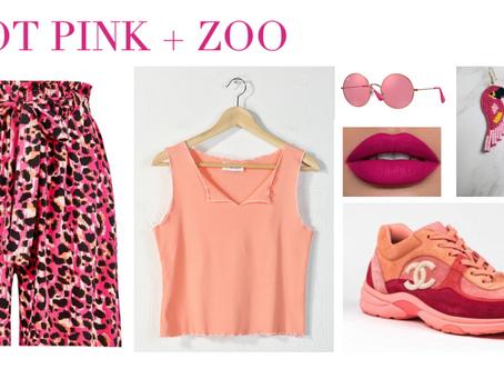 Hot Pink + Zoo Trip.