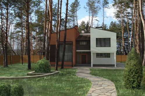 Загородная резиденция в сосновом лесу.